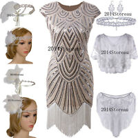 1920s Dress Flapper Costume Party Cocktail Evening Gowns Bridesmaid Wedding 2-20