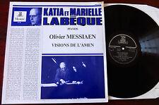 MESSIAEN Visions De l'amen 2 piano LP Labeque ERATO Mus 19046 Presque comme neuf France