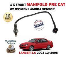 para Mitsubishi Lancer 1.6 4g18 2003-2008 Delante colector 02 SENSOR LAMBDA