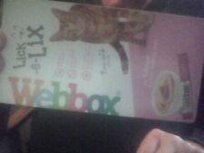 Webbox Lick-e-Lix Tasty Yoghurt Cat Treat with Salmon pack of 5 x 15g sachets