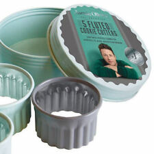 Jamie Oliver Set Of 5 Fluted Cookie Cutters In A Tin