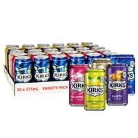 Kirks Variety Soft Drink Multipack Cans 30 x 375mL Pack