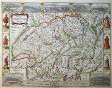MERCATOR HONDIUS SCHWEIZ RANDKARTE BASEL ZÜRICH BERN NOVA HELVETIAE TABULA 1606