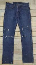 HOLLISTER Skinny Destroyed Distressed Dark Wash Blue Jeans Size 29x32