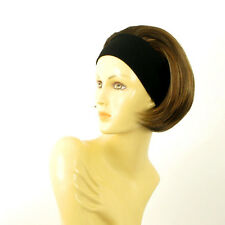 headband wig short chocolate copper wick clear ref: AMANDA 627c