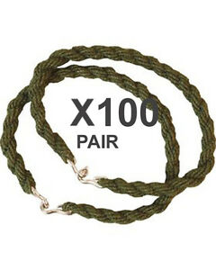100 Pairs Trouser Twists Bungee Twist Elastic Leg Ties Army Combat Military Boot