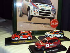3 1:43 MODERN RALLY CAR MODELS PEUGEOT ALFA FORD + BOOK