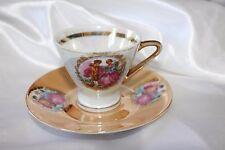 Vintage Demitasse Cup & Saucer Teacup Best Porcelain Atallah Opalescent Pearl