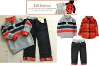 NWT Gymboree Boys Halloween Fall Festival Sweater Shirt & Jeans 3pc 4T 5T