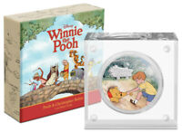 2021 Niue Disney Winnie the Pooh & Christopher Robin 1oz Silver Proof Coin