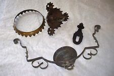 Antique Parts for Kerosene Oil Hanging Lamp Iron Horse Pulley