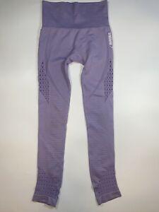 Gymshark Seamless Energy High Waist Lilac Legging Women Small Built In Underwear