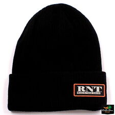 RNT RICH-N-TONE WOVEN KNIT CAP BEANIE BLACK WITH PATCH LOGO DUCK GOOSE CALLS