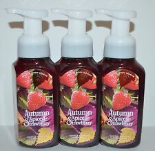 LOT OF 3 BATH BODY WORKS AUTUMN SPICED STRAWBERRY GENTLE FOAMING HAND SOAP WASH