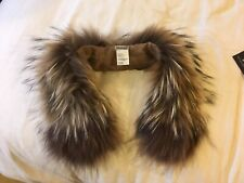 George Rech fur collar, attach to coats, raccoon fur