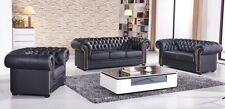 Chesterfield Ledersofa Couch Chester-3+2+1-S sofort