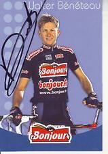 CYCLISME ** carte cycliste WALTER BENETEAU équipe BONJOUR 2002 signée