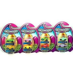 Micro Machines EASTER Basket HOLIDAY Packs COMPLETE Set of 4 (8 Cars total) 2021