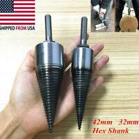 1x Sharp Screw Wood Drill Bit Splitting Cone Twist Thread U Firewood Splitter HQ