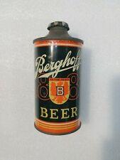 Vintage Berghoff Irtp Fort Wayne Indiana Low Profile w Lid Cone Top Beer Can Old