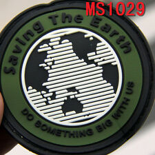 Original Saving the Earth Design Rubber Magic Military Patch Badge Patches New