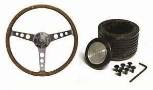 "SAAS Ford XA XB XC Classic Steering Wheel 380mm 15"" Wood Grain & Boss Kit Combo"
