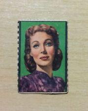 FIGURINE ATTORI NANNINA - ANNI '50 - LORETTA YOUNG - R.K.O. RADIO FILMS - USED