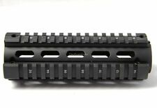 6.7 Carbine Length Two Piece Drop In Quad Rail Handguard Fit Round Cap 223