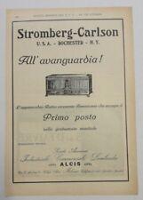 Pubblicità 1929 STROMBERG CARLSON RADIO advertising reklame publicitè werbung