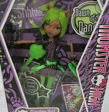 Monster High Clawdeen Wolf Doll Dawn of the Dance 2009 NEW SEALED