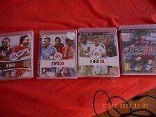 lot de 4 jeu ps3 fifa 08.09.10 et pes 2011 NEUF