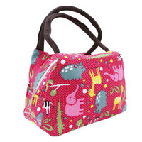 Insulated Lunch Bag Portable Thermal Cooler Tote Picnic Box Women BB