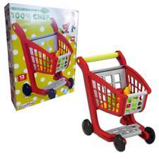Ecoiffier Kinder Einkaufswagen Kunststoff Einkaufskorb inkl. Kaufladen Zubehör