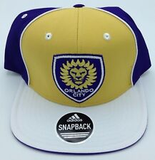11c64131c5d27 MLS Orlando City SC Adidas Structured Flat Brim Adjustable Fit Cap Hat   VW76Z