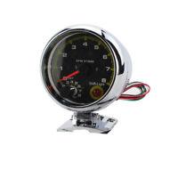 3.75'' Universal Car Tachometer Tacho Gauge Meter LED Shift Light 0-8000 RPM FO