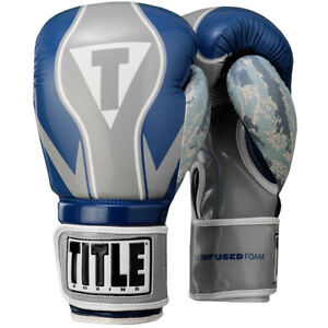 Title Boxing Infused Foam Honor Combat Hook and Loop Training Gloves