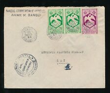 FRENCH WEST AFRICA AEF LIBRE BIRD FRANKING 1942 BANK COMMERCIAL to LAI