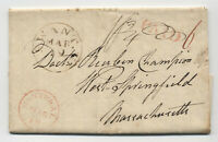 1829 Swanton VT stampless letter from Montreal to MA [5246.536]