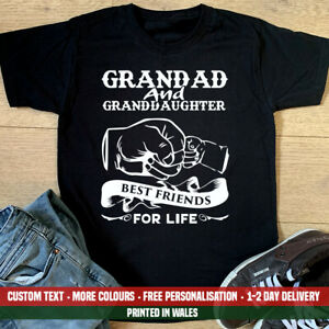Grandad & Granddaughter Best Friends For Life T Shirt Birthday Fathers Day Gift