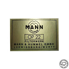 Porsche 356 early Mann oil filter canister decal Replaces 64470101113