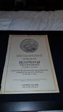 1968 Broadway Tony Awards Rare Original Promo Poster Ad Framed!