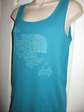 North Face Women's M Green Ribbed Tank Top Sleeveless Shirt (The North Face)