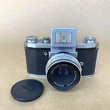 Praktica FX 35mm Film Camera W/ Tessar 50mm 2.8 Lens & Waist Level Finder, NICE