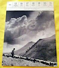 1955 Le puy de l'angle dans la chaine du sancy art print vintage France berger