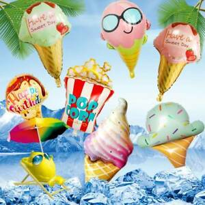 Ice Cream Foil Balloons Kids Party Baby Shower Birthday Party Decoration Balloon