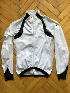 Assos Men's SJ.13 Luftschutz Windproof Cycling Jacket Hybro V2 White Size S
