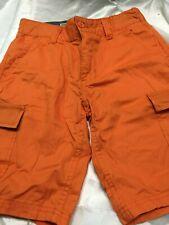 Nwt Boys Levi's Levi Strauss Cargo Shorts Orange 24 Waist  8 Regular