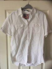Lee Cooper Mens Short Sleeved Shirt White Medium