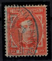 P133277/ SPAIN – ALFONSO XII – EDIFIL # 182 USED – CV 235 $