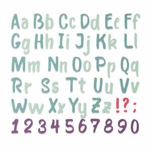 Sizzix Thinlits Die - Bold Brush Alphabet - 664491